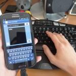 SGS3 USB OTG - Keyboard in use