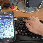 SGS3 USB OTG - Keyboard in use, with volume muted